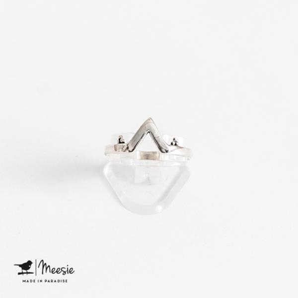 Ring Kaapstad zilver - 3 stuks
