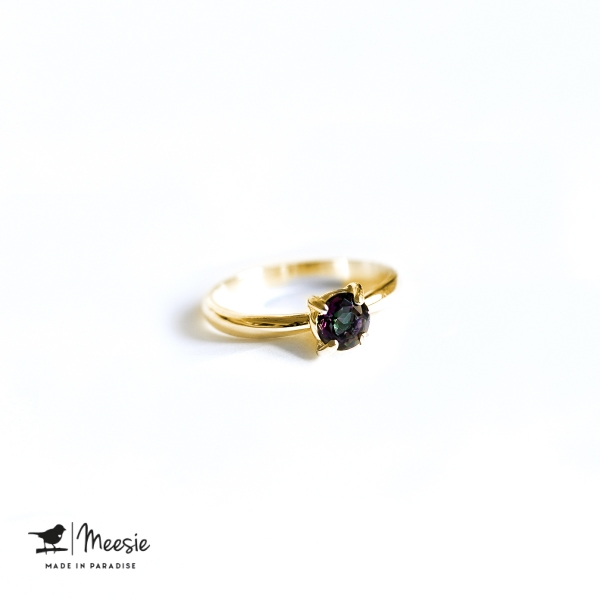 Ring Princess Magic Topaas edelsteen goud op zilver