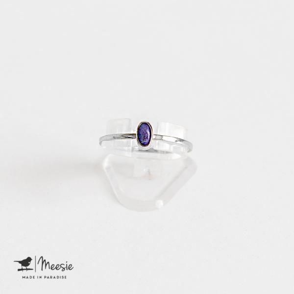 Ring ovale Lapis Lazuli edelsteen zilver