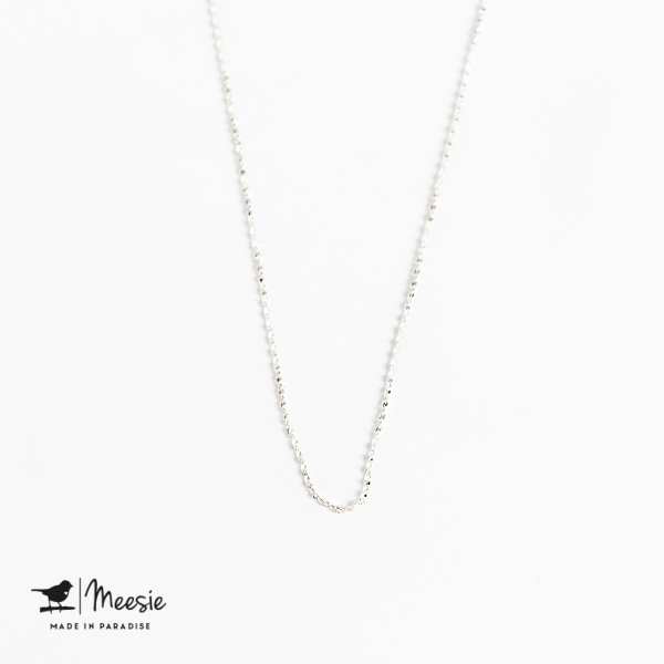 Ketting: Tiny Twisted ketting zilver - 3 stuks
