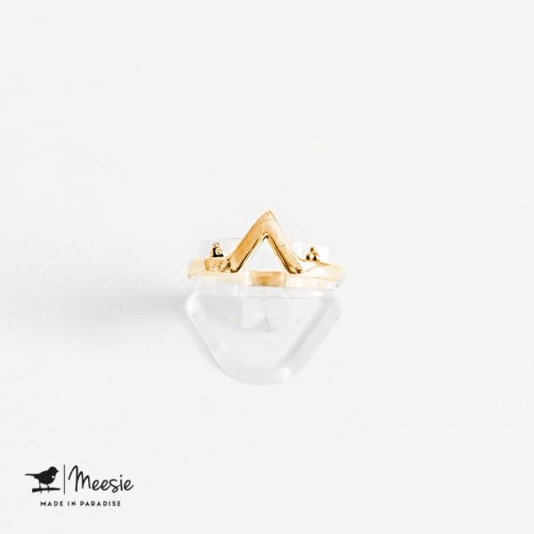 Ring Kaapstad goud op zilver - 3 stuks