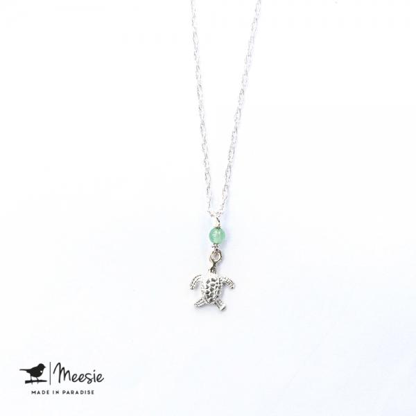 Ketting: Schildpad bedel zilver - 3 stuks