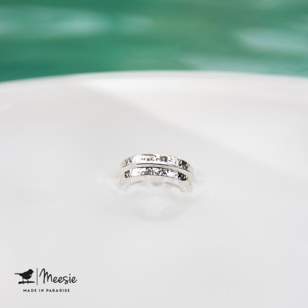 Ring Amsterdam zilver - 3 stuks