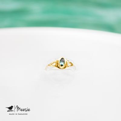 Ring Empress Topaas edelsteen goud op zilver - 3 stuks