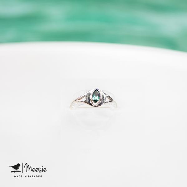 Ring Empress Topaas edelsteen zilver - 3 stuks