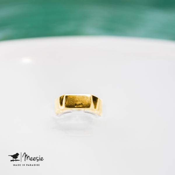 Ring Tokio goud op zilver - 3 stuks