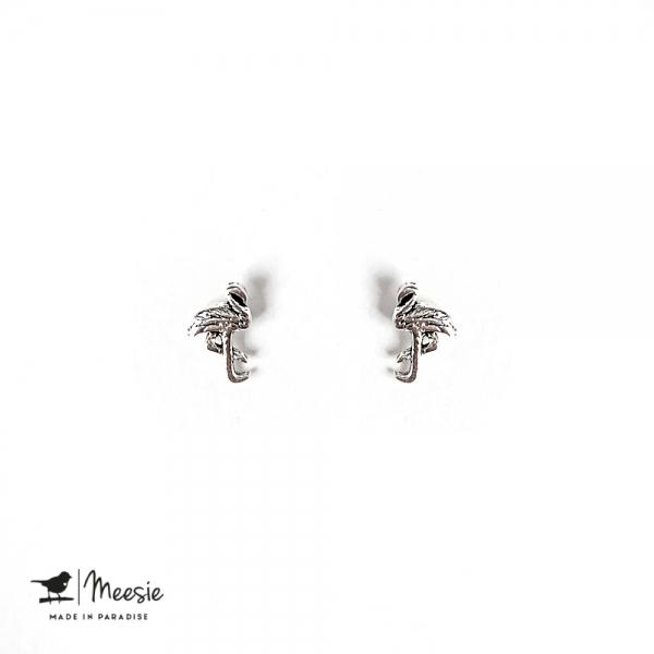 Studs: Flamingo zilver - 3 paar