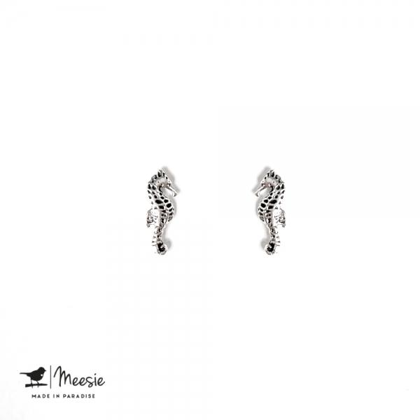 Oorbellen Studs zeepaardjes zilver - 3 sets