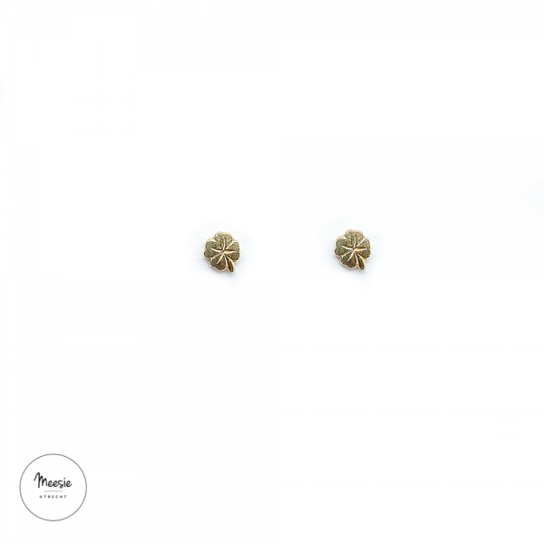 Studs: Lucky Klavertje Vier goud op zilver - 3 paar