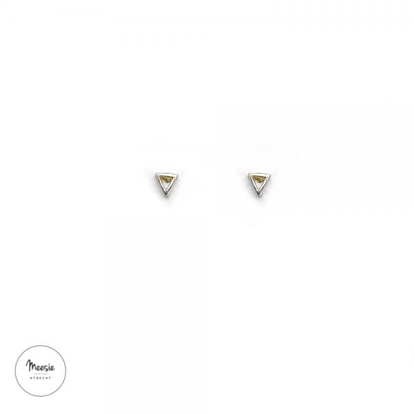 Studs: Bermuda Driehoek zilver - 3 paar