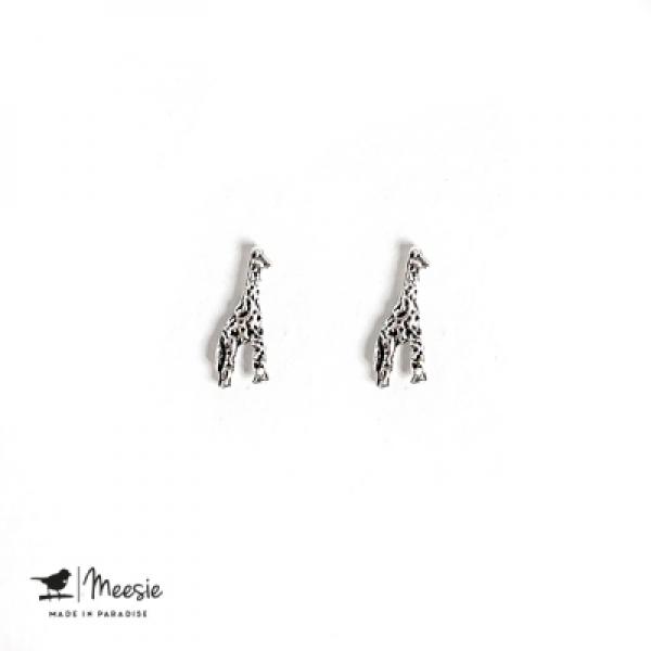 Studs: Giraffe zilver - 3 paar