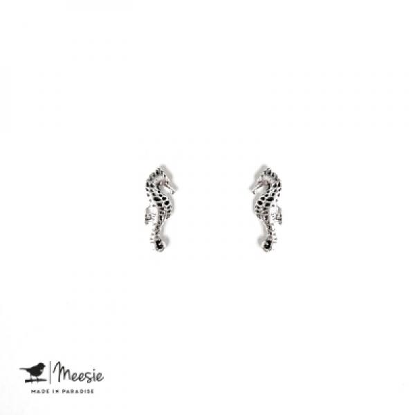 Studs: Zeepaard zilver - 3 paar