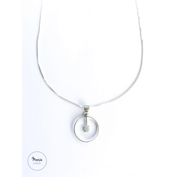 Ketting: Aquamarijn zilver - 3 Kettingen