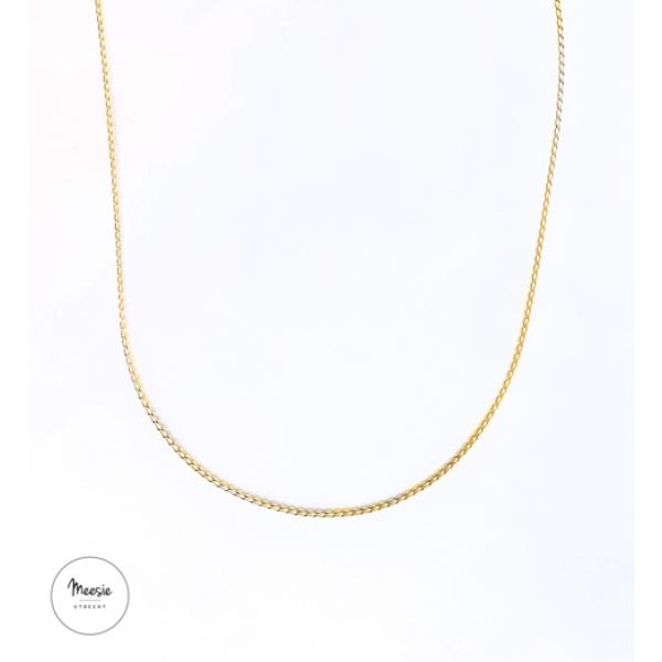 Ketting: Fortune goud op zilver - 3 kettingen